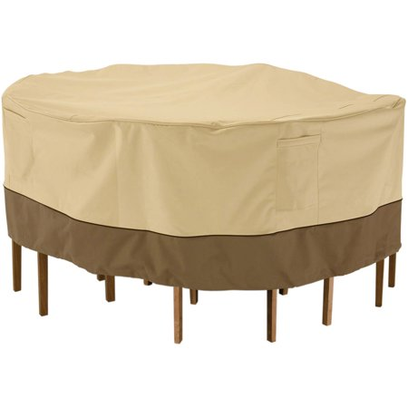 Round Table Set Cover (Classic Accessories Veranda Tall Round Patio Table and Chair Set Furniture Storage Cover, fits up to 60
