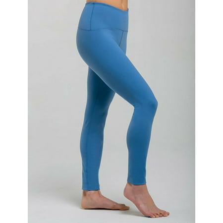 Pewter Long Legging Yoga Pants - M