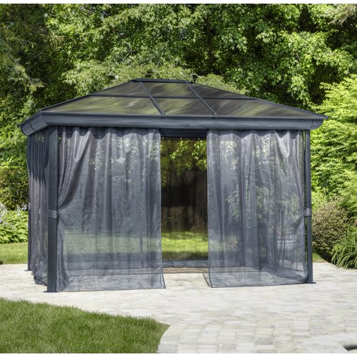 Gazebo Penguin All Season 9 Ft. W X 9 Ft. D Metal Permanent Gazebo by Gazebo Penguin