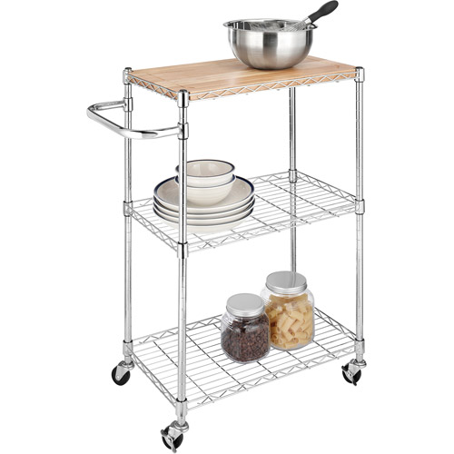 High Quality Whitmor 3 Tier Cart And Cutting Board