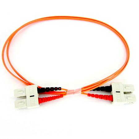 Duplex Multimode Pvc 1 Meter - Fiber Optic Cable - Multimode Duplex 50/125 - OFNP Plenum - SC/SC - 1 Meter
