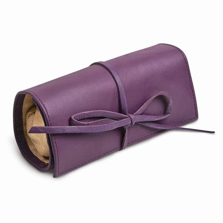 Purple Leather Tie Jewelry Roll ()