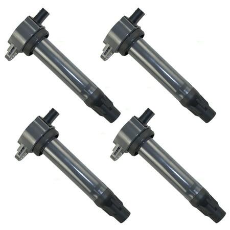 (4 Pc Set Ignition Spark Plug Coils Replacement for Chrysler 200 Sebring Dodge Avenger Caliber Journey Jeep Compass Patriot 4 cyl 4606824AC)