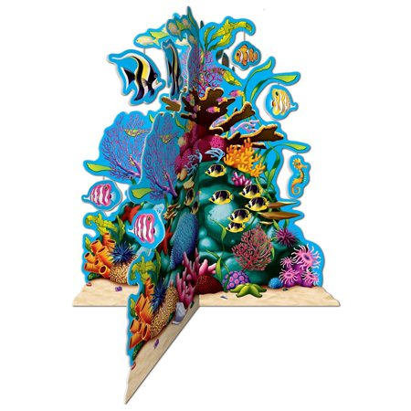 Club Pack of 12 3-D Multi- Colored Coral Reef Party Centerpiece Decorations 10