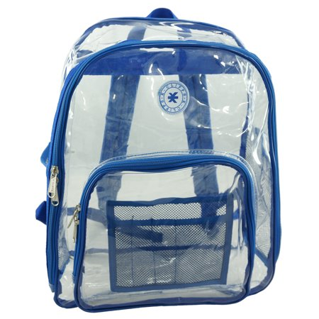 Scarlet Womens Backpack - K-Cliffs Heavy Duty Clear Backpack See Through Daypack Student Transparent Bookbag Red