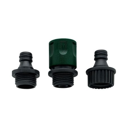 Orbit Plastic Garden Hose Faucet Quick Connect Set - Fast Release Hoses - -