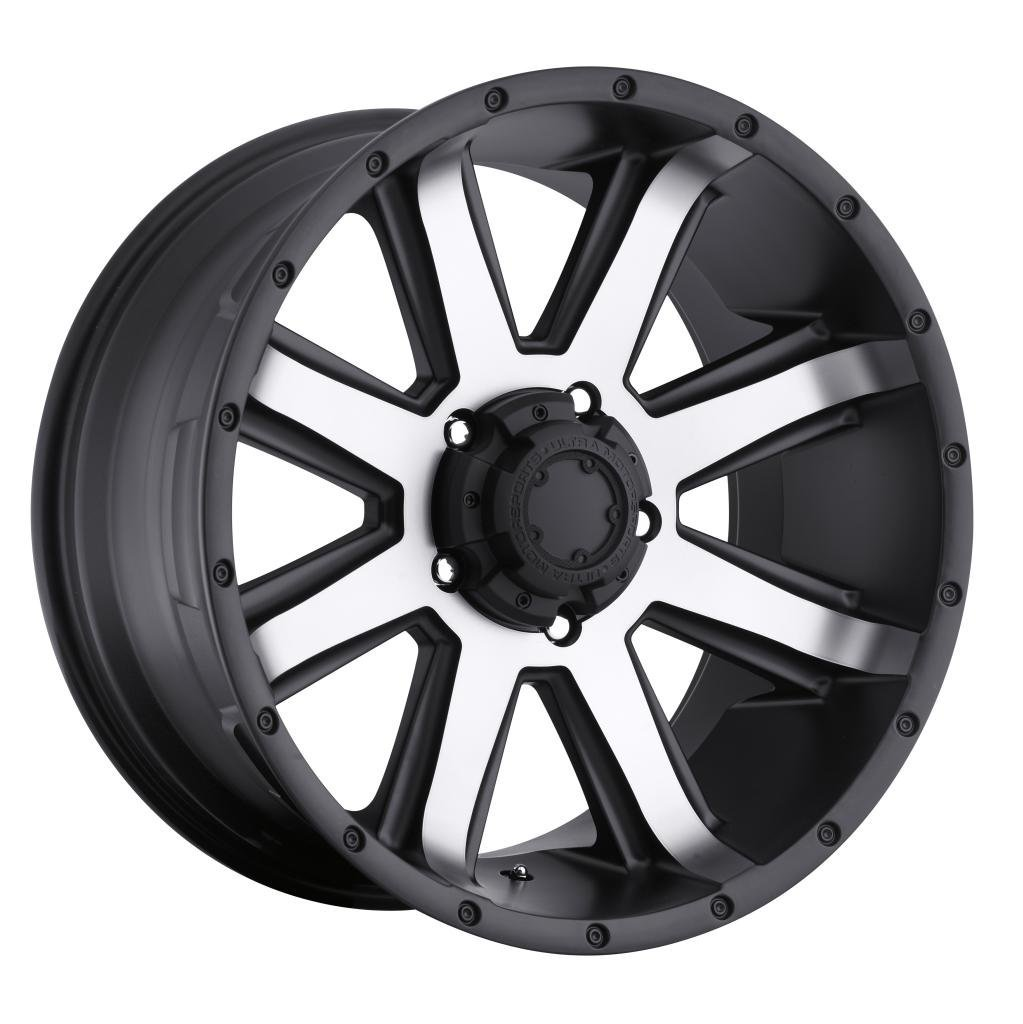 Ultra Crusher 17 Machined Black Wheel / Rim 5x5.5 with a 10mm Offset and a 107 Hub Bore. Partnumber 195-7885U