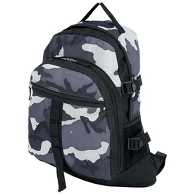 Extreme Pak LUBPCGB Black and Gray Urban Camo Backpack