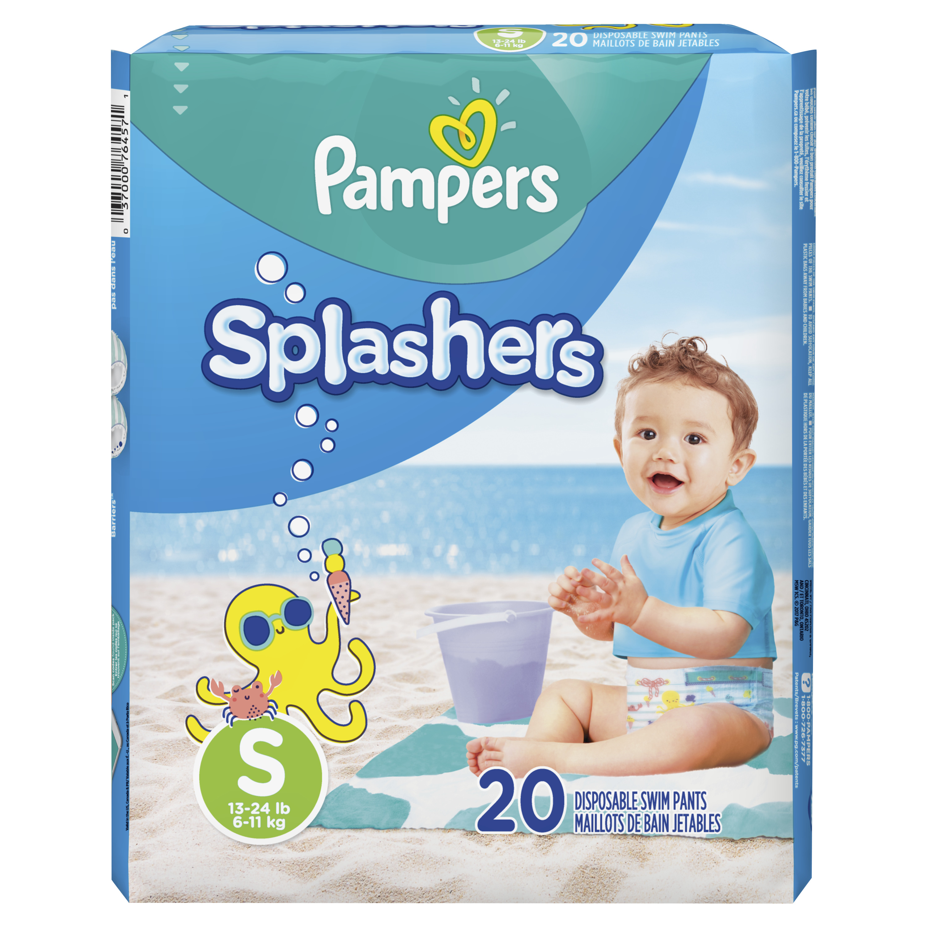 Pampers Splashers Swim Diapers (Choose Size and Count)