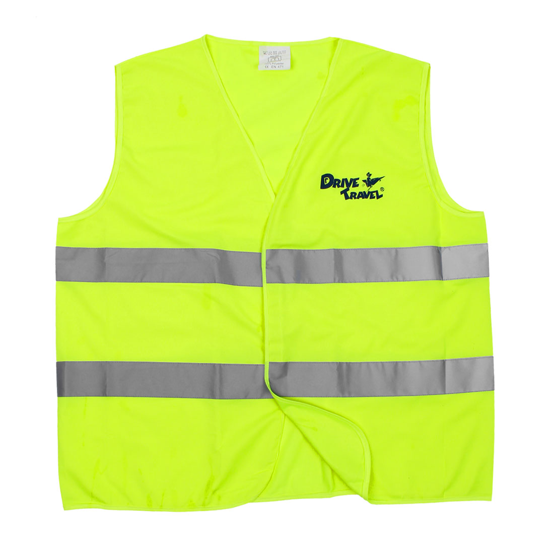 Fluorescent Yellow Gray Cartoon Printed Security Warning Reflective Vest