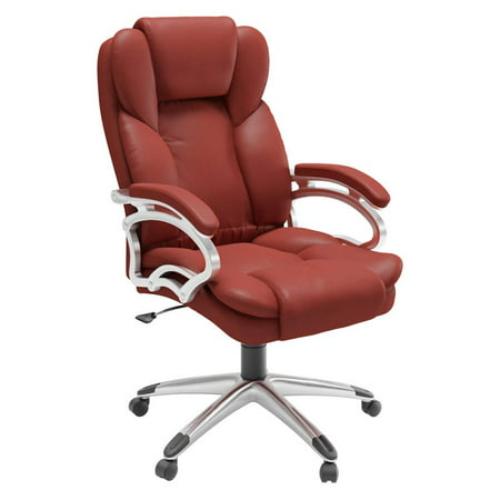 CorLiving Executive Office Chair in Leatherette Director Leatherette Office Chair