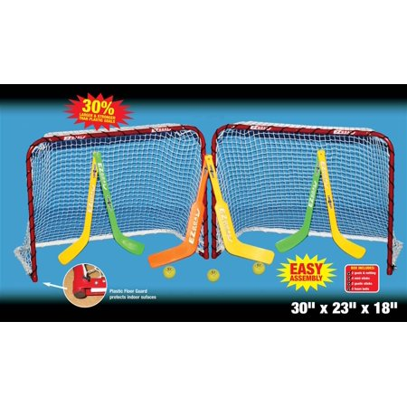 Knee Hockey Goalie Equipment (Double Knee Mini Hockey Metal Goal)