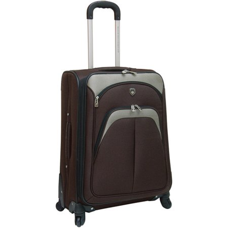 Travelers Club Expandable 4 Wheel Spinner Luggage, Mocha - Walmart.com