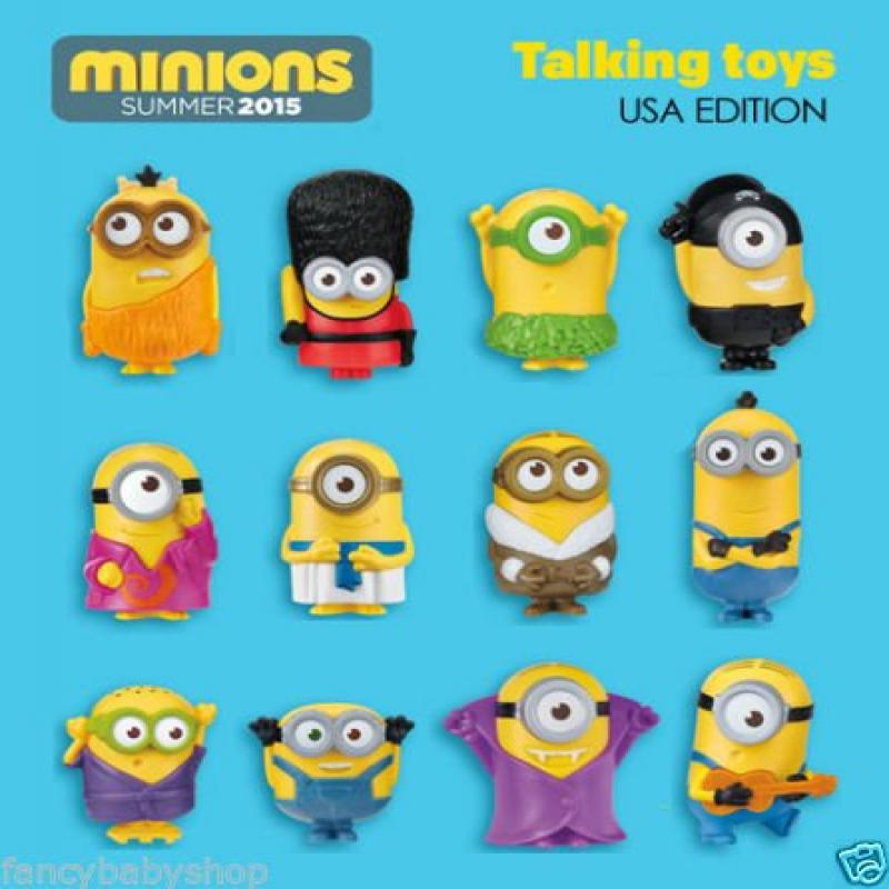 2015 Mcdonald's Happy Meal Toys Minion Complete Set by