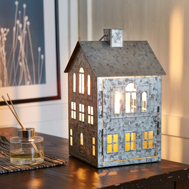 Better Homes & Gardens Galvanized House Candle Holder Lantern