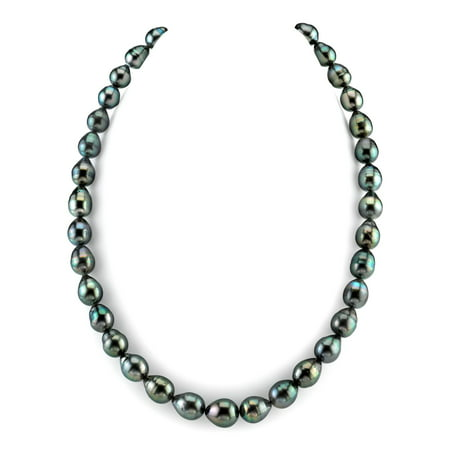 "14K Gold 8-10mm Tahitian South Sea Baroque Cultured Pearl Necklace - AAA Quality, 18"" Length"
