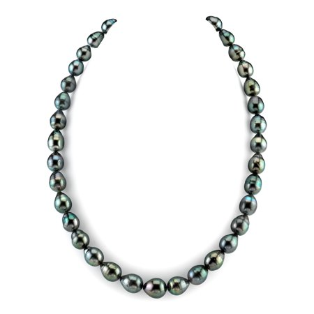 14K Gold 8-10mm Tahitian South Sea Baroque Cultured Pearl Necklace - AAA Quality, 16