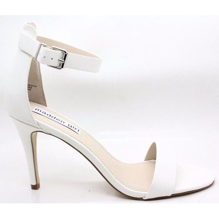7260eb8fbef Madden Girl Womens Bay Open Toe Dress Sandal White Synthetic Size 9