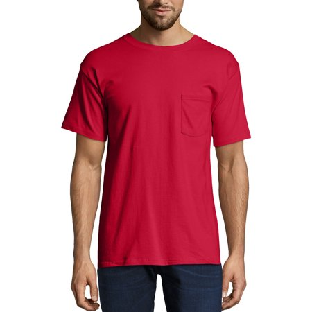 3ef30129 Hanes - Men's Premium Beefy-T Short Sleeve T-Shirt With Pocket, Up to Size  3XL - Walmart.com