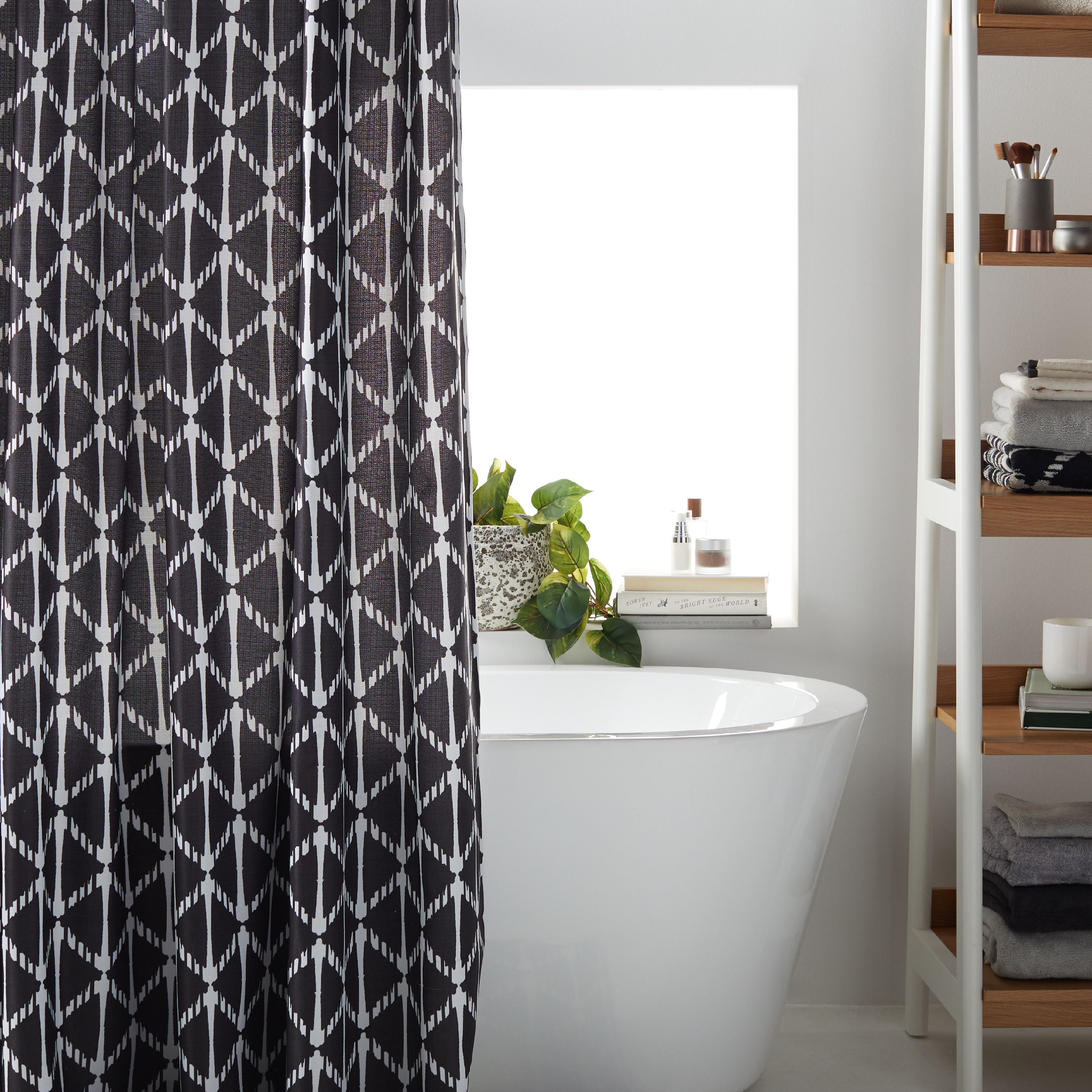 MoDRN Geo Print Shower Curtain