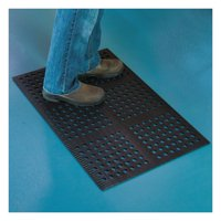 ES Robbins Pro Lite Four-Way Drain Mat, 24 x 36, Black
