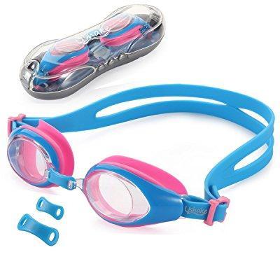 kids child swim goggle, ushake anti-fog uv protection soft silicone frame kid child swimming goggles for kids children... by
