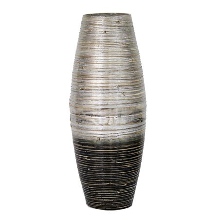 Heather Ann Spun Large Open Rounded Bamboo Vase ()