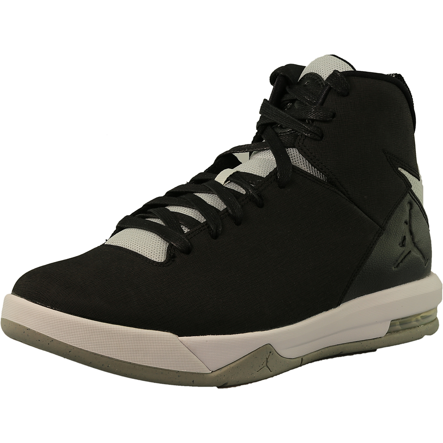 fe820edb8679 ... inexpensive nike mens jordan air imminent black grey mist white ankle  high leather basketball shoe 10m ...