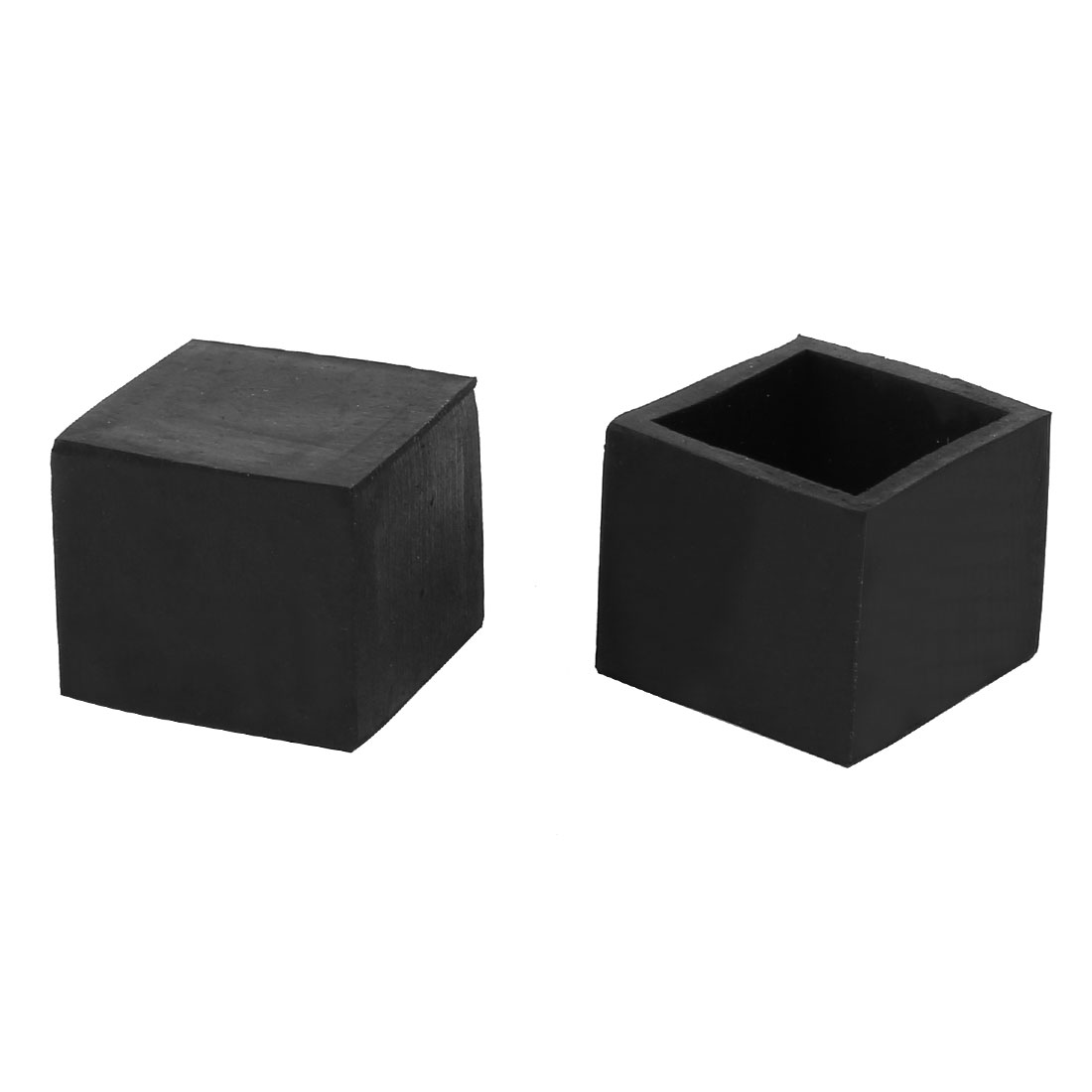 25mmx25mm Square Chair Leg Floor Protectors Table Feet Tips Covers Caps 2pcs