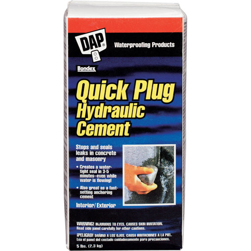 Dap 14086 5 lb Box Quick Plug Hydraulic Cement