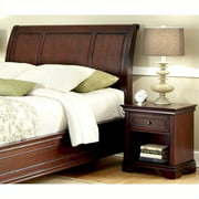 Home Styles Lafayette King/California King Sleigh Headboard and Night Stand, Rich Cherry