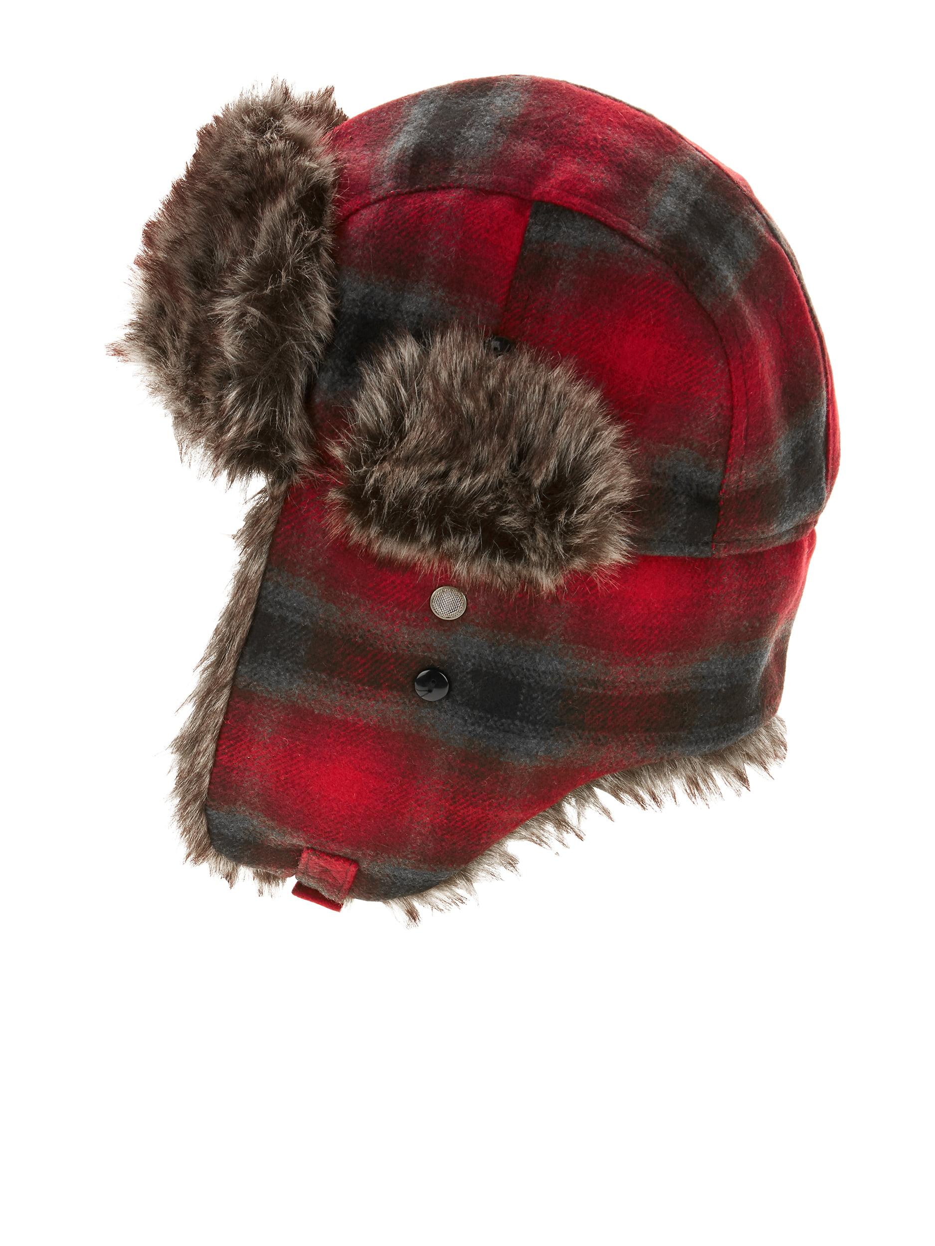 64a66acebc1b8 Swiss+Tech - Men s Swiss Tech Trapper Hat with Faux Fur Lining and Chin  Strap - Walmart.com