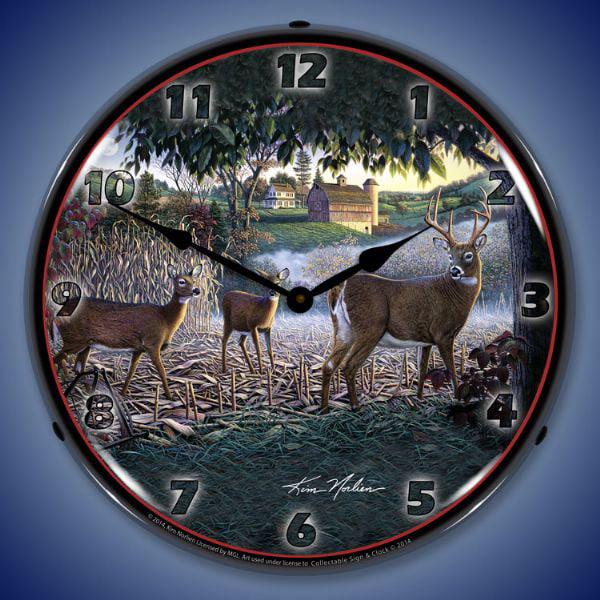 Field Of Dreams Deer Wall Clock, Lighted