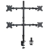 """VIVO Quad LCD Monitor Desk Mount Stand Heavy Duty Fully Adjustable fits Four Screens up to 30"""" (STAND-V004)"""