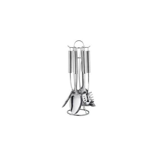 Ragalta USA RTS-005 7 Pieces Full Bodies Stainless Steel Kitchen Utensil Set with Stand