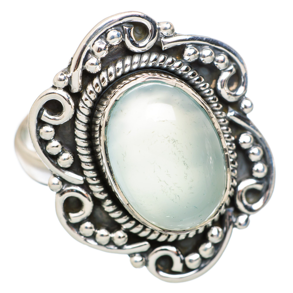 Ana Silver Co Aqua Chalcedony 925 Sterling Silver Ring Size 9 Handmade Jewelry RING848427 by Ana Silver Co.