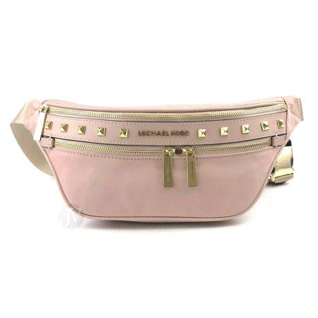 Brand New Women S Michael Kors Nylon Stud Kenly Medium Waist Pack Belt Bag Blossom