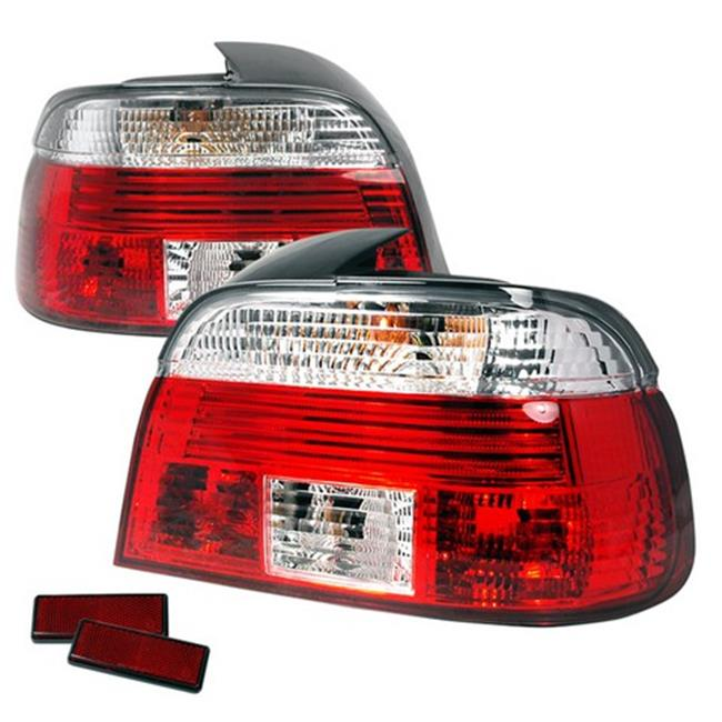 Spec-D Tuning LT-E394RPW-APC 5 Series Altezza Tail Light for 97 to 00 BMW E39, Red & Clear - 12 x 14 x 22 in.