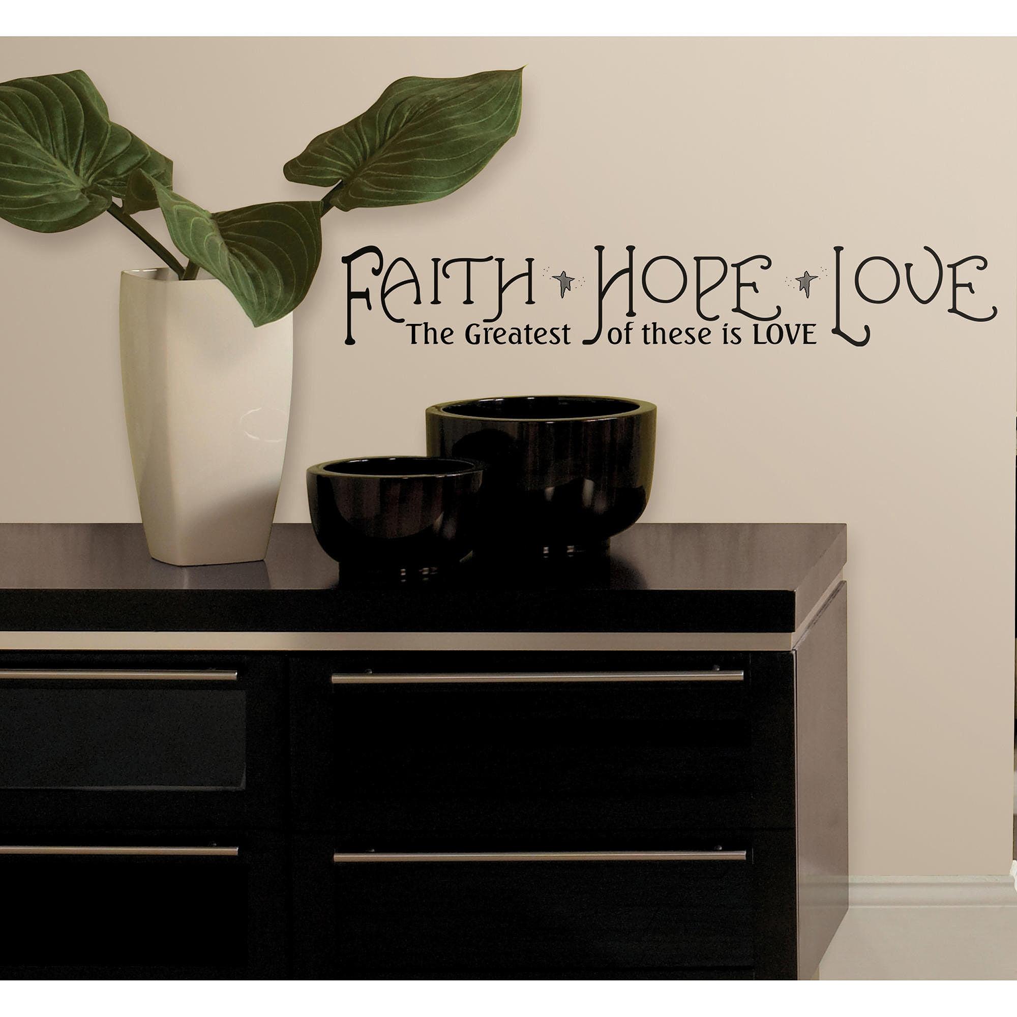 RoomMates Faith, Hope & Love Peel & Stick Quotes
