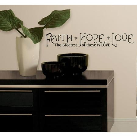roommates faith hope love peel stick quotes. Black Bedroom Furniture Sets. Home Design Ideas