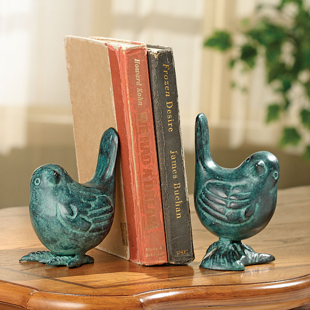 Bird on Branch Bookends PR by SPI Home