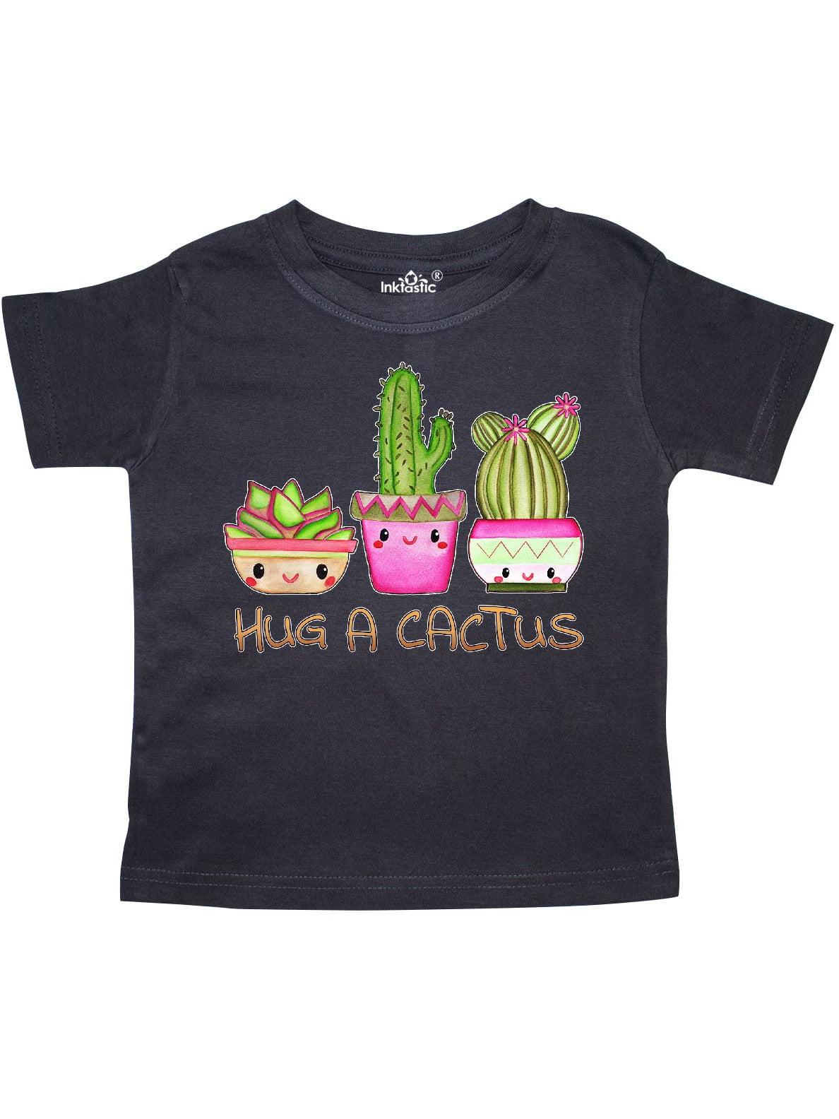 19ccaeda8 Inktastic - Hug a Cactus- cute Toddler T-Shirt - Walmart.com