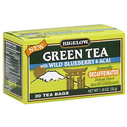 Bigelow Green Tea With Wild Blueberry & Acai, 20ct (Pack of 6)