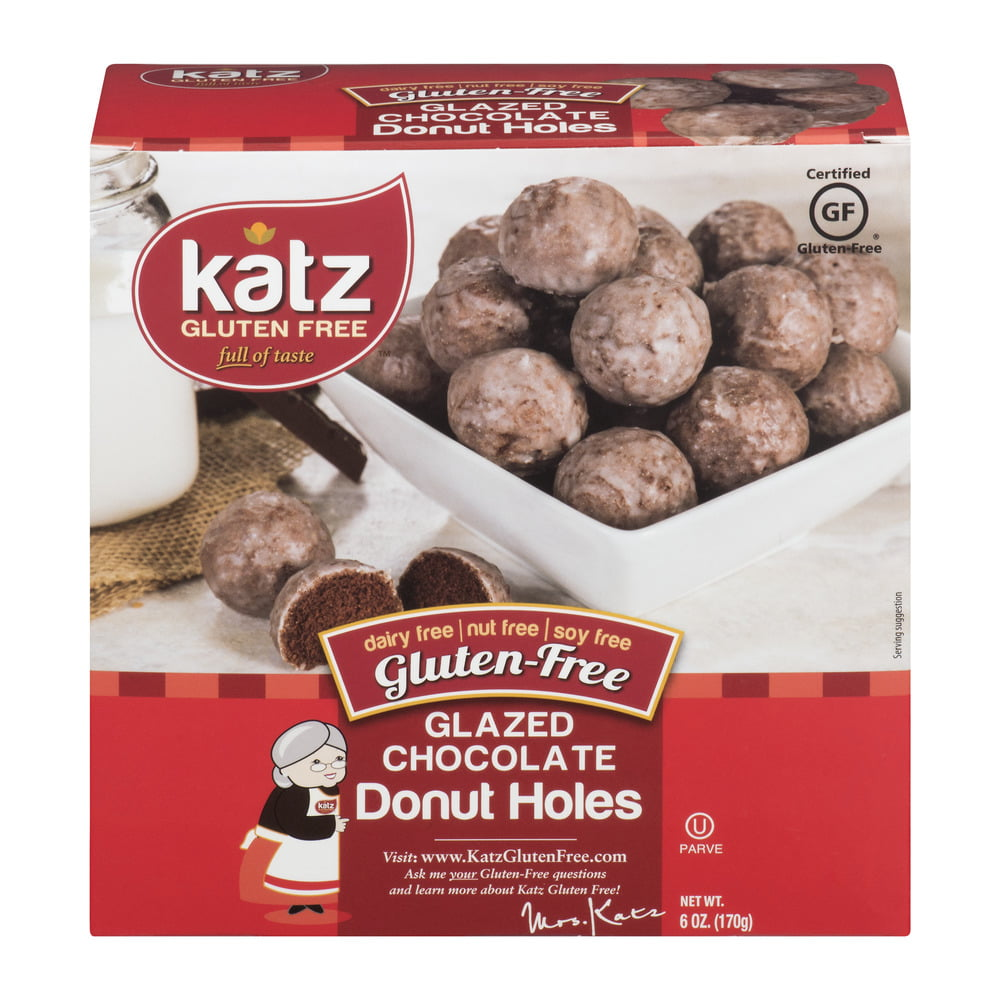 Katz Gluten Free Donut Holes Chocolate Glazed, 6 oz ...