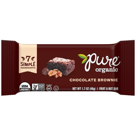 Pure ® Organic Chocolate Brownie Fruit & Nut Bar 1.7 oz. Wrapper
