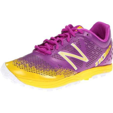 New Balance Womens 110 Trail Running Shoes Purple Yellow  8