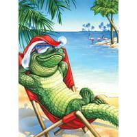 Tropical Beach Peace - Box of 18 Christmas Cards by LPG Greetings