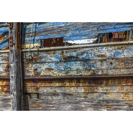 LAMINATED POSTER Texture Wood Rust Boat Hull Texture Peeling Paint Poster Print 11 x (Best Paint For Aluminum Boat Hull)