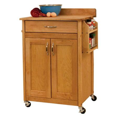 Catskill Craftsman Deluxe Butcher Block Cart Portable Kitchen Cart - Walmart.com