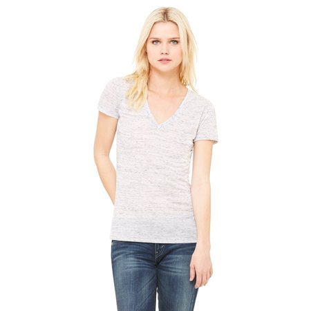 - Women's Jersey Deep V-Neck Short Sleeve T-Shirt